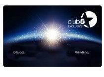 Card de fidelitate Club5* Exclusive