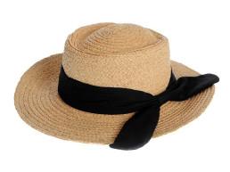 Palarie plaja, bej/negru Oh La La