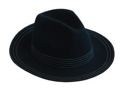 Palarie clasica neagra, forma ovala Oh La La