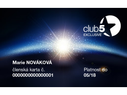 Card de fidelitate Club5* Exclusive