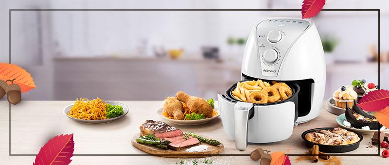 Friteuza cu aer cald Delimano Air Fryer (Alba)