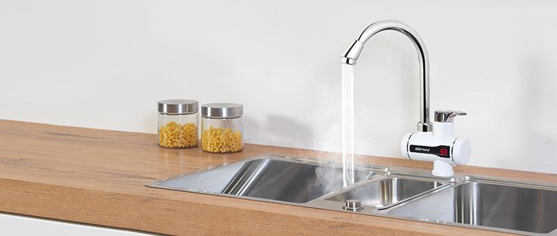 Noul robinet electric pentru incalzit apa Delimano - la pretul modelului vechi.