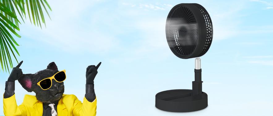 NOU! Ventilator portabil fara fir Rovus