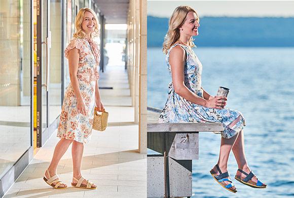 Sandale cu talpa de pluta Walkmaxx Trend