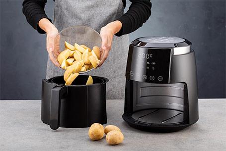 Friteuza cu aer cald Delimano Air Fryer Deluxe Noir