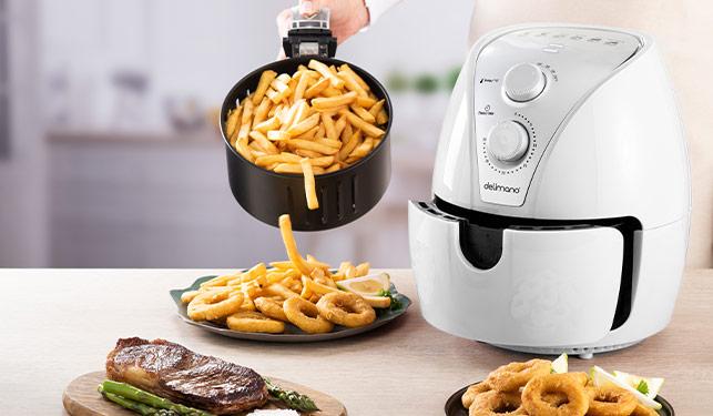 Friteuza cu aer cald Delimano Air Fryer Alba