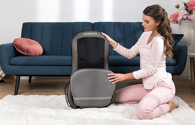 Dispozitiv pentru masajul spatelui si umerilor Wellneo Shiatsu
